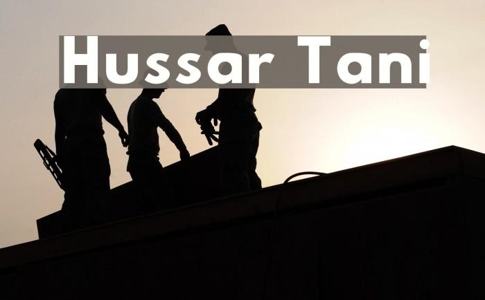 Hussar Tani Font examples