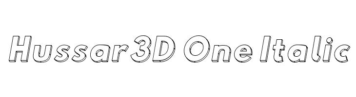 Hussar3D One Italic  لخطوط تنزيل