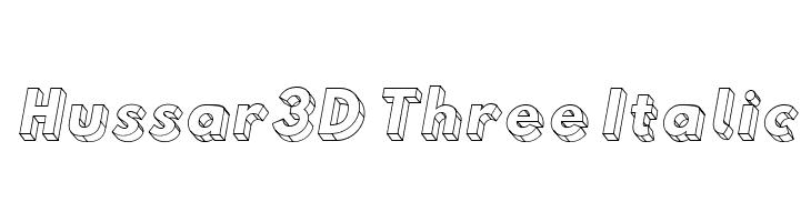 Hussar3D Three Italic  لخطوط تنزيل