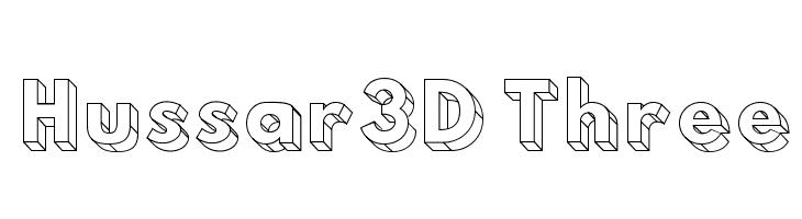 Hussar3D Three  لخطوط تنزيل