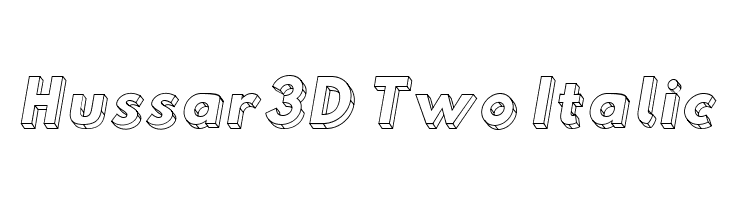 Hussar3D Two Italic  لخطوط تنزيل