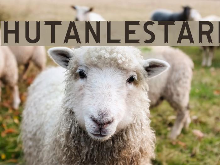 HutanLestari Font examples