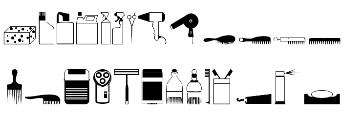 Hygiene Things Font UPPERCASE
