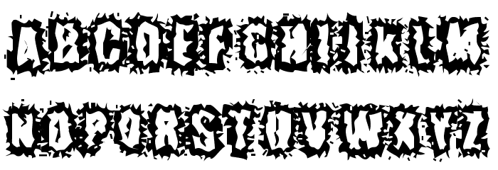 Hyper Kinetic Font UPPERCASE