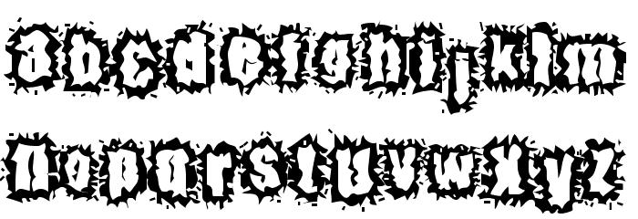 Hyper Kinetic Font LOWERCASE
