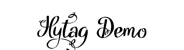 Hytag Demo  Free Fonts Download