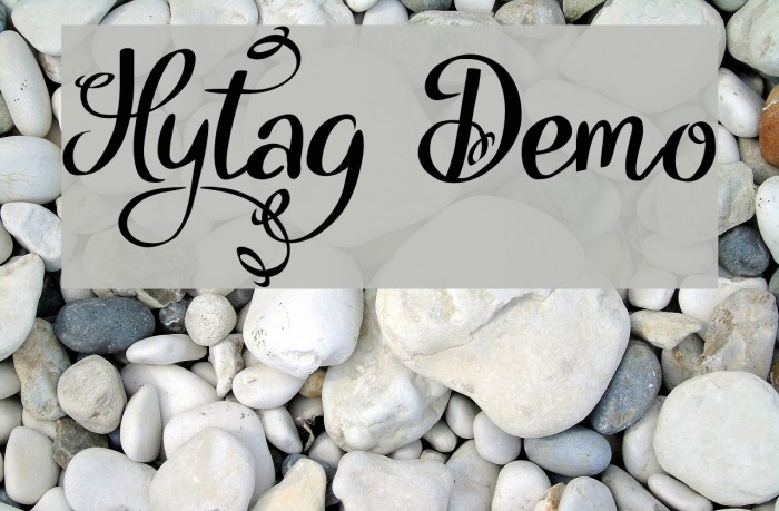 Hytag Demo फ़ॉन्ट examples