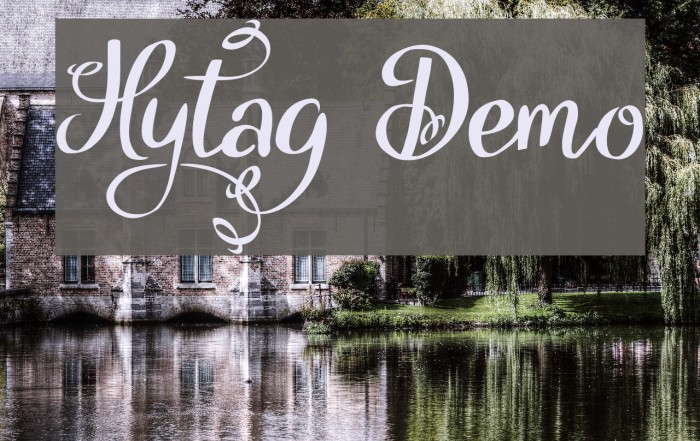 Hytag Demo Font examples