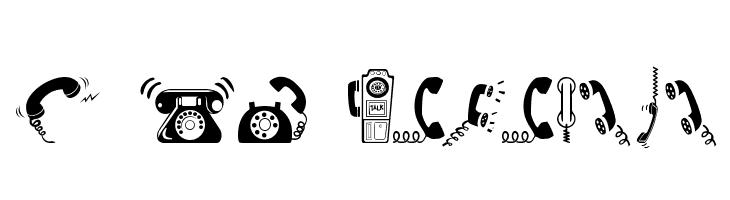 I AM TELEFONO Font