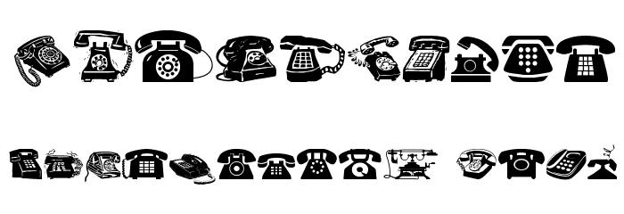 I AM TELEFONO Font OTHER CHARS