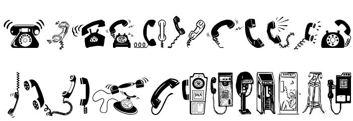 I AM TELEFONO Font UPPERCASE