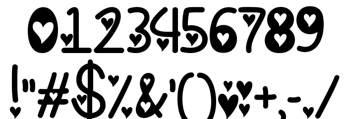 I Found My Valentine Hearted Font OTHER CHARS