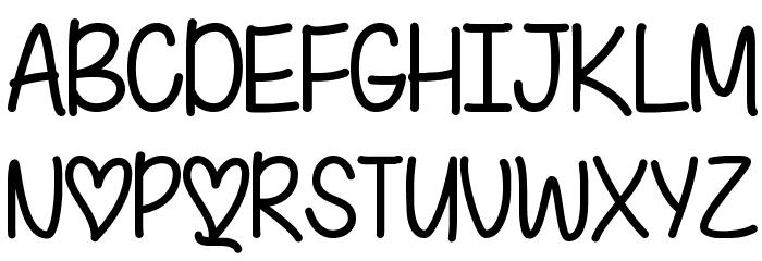 I Found My Valentine Font UPPERCASE