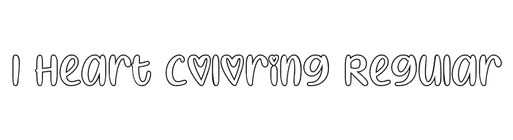 I Heart Coloring Regular  baixar fontes gratis