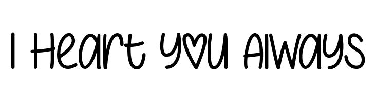 I Heart You Always  baixar fontes gratis