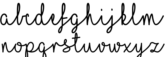 I Love Glitter Font LOWERCASE