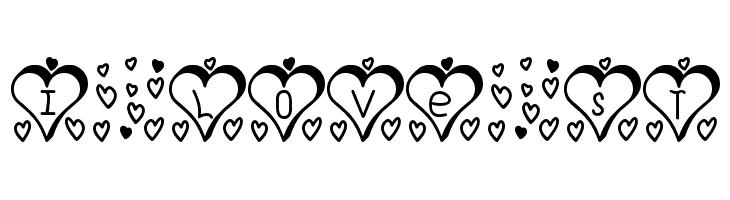 I Love St  Скачать бесплатные шрифты
