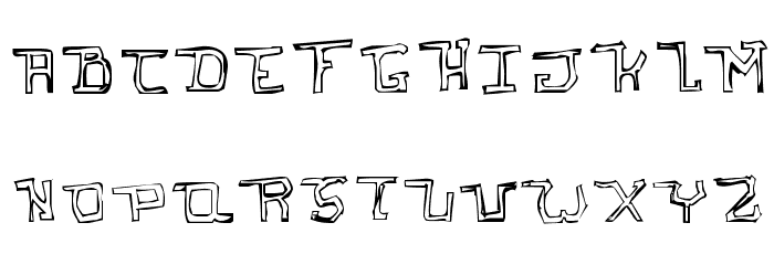 I hate you   Oddtype Font UPPERCASE