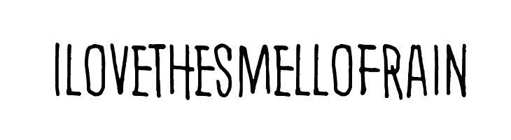 I love the smell of rain  Free Fonts Download