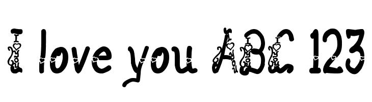 I love you ABC 123  Скачать бесплатные шрифты