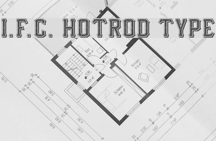 I.F.C. HOTROD TYPE Fonte examples
