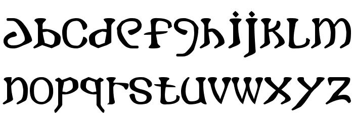 i crashed into gothic Font LOWERCASE