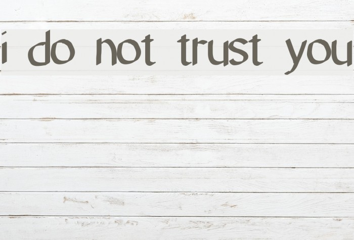 i do not trust you Font examples