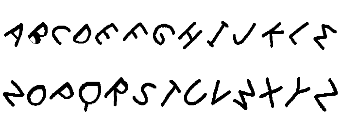 i-font Schriftart Groß