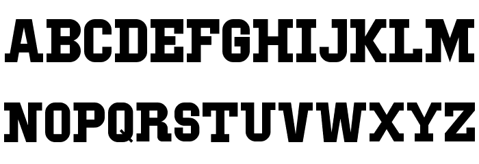 IBM Block Serif Font UPPERCASE