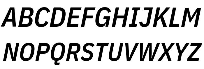 IBM Plex Sans Condensed SemiBold Italic Font Litere mari
