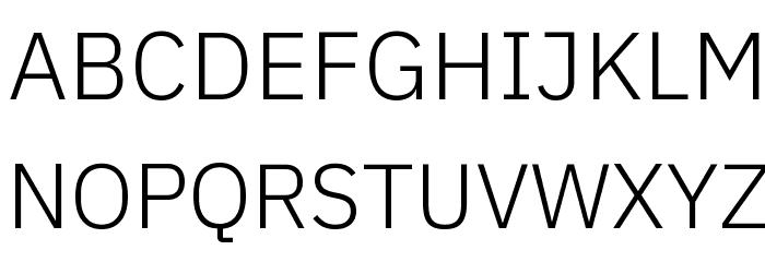 IBM Plex Sans Light Font UPPERCASE