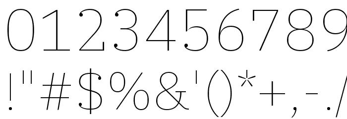 IBM Plex Serif Thin フォント その他の文字