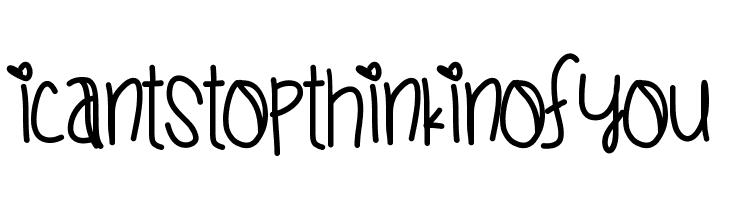 ICantStopThinkinOfYou  Free Fonts Download