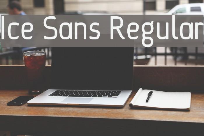 Ice Sans Regular Font examples