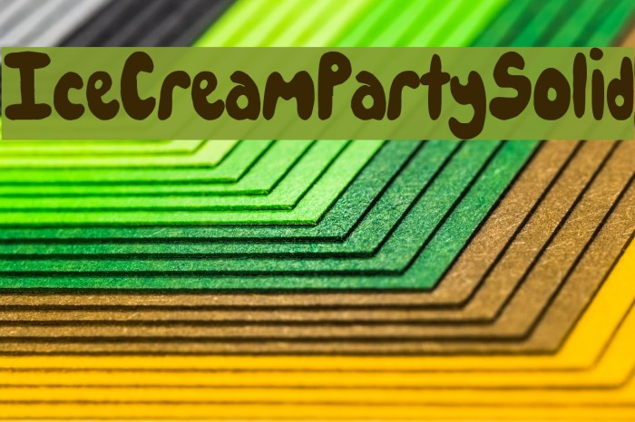 IceCreamPartySolid Font examples