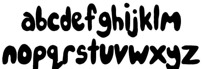 IceCreamPartySolid Font LOWERCASE