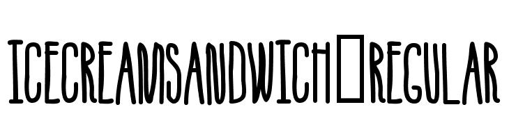 IceCreamSandwich-Regular  Free Fonts Download