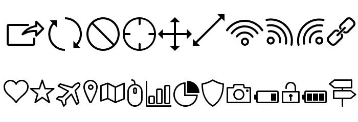 Icon-Works Regular Fuentes OTROS CHARS