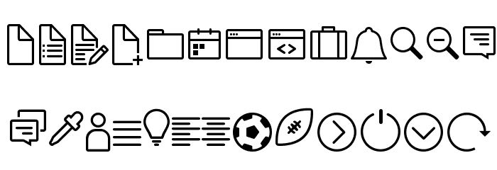 Icon-Works Regular Fuentes MAYÚSCULAS