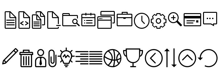 Icon-Works Regular Fuentes MINÚSCULAS