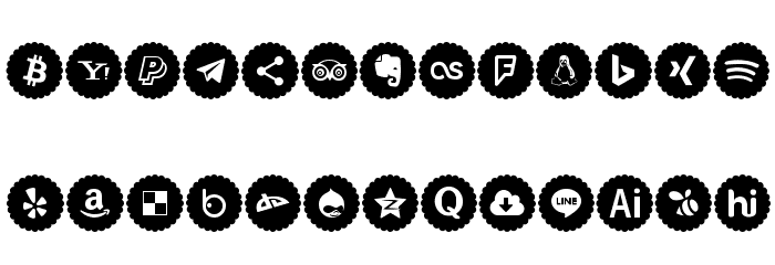 Icons-Color Font UPPERCASE
