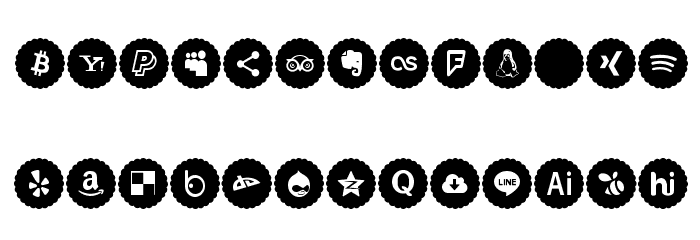 Icons Font Color 2019 Font UPPERCASE