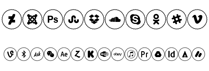 Icons Social Media 2 Font OTHER CHARS