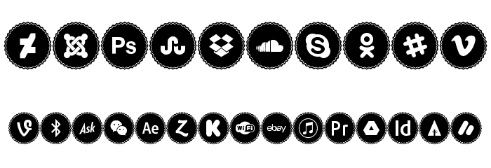 Icons Social Media 3 Font OTHER CHARS