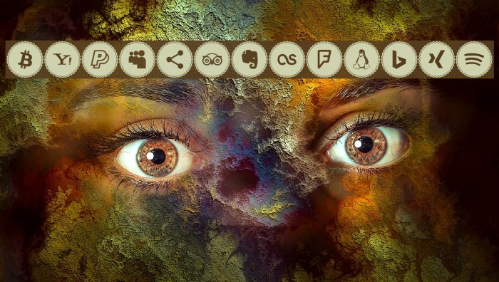Icons Social Media 3 फ़ॉन्ट examples