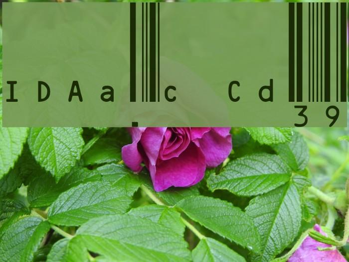 IDAutomation.com Code39 Шрифта examples