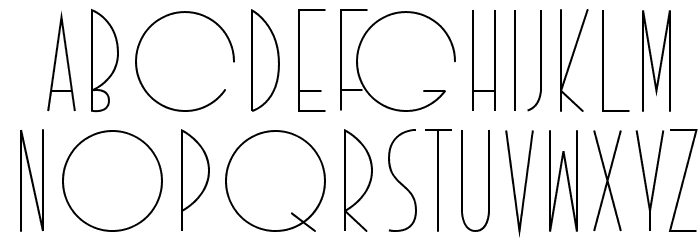 Idilica Schriftart Anderer Schreiben
