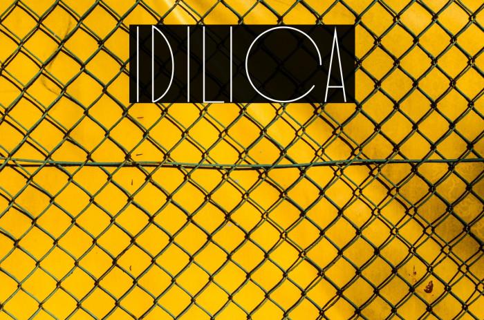 Idilica Schriftart examples