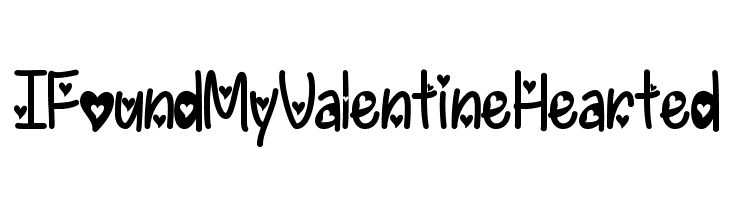 IFoundMyValentineHearted  Free Fonts Download