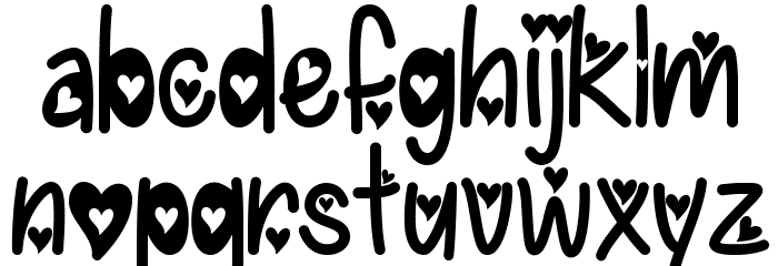 IFoundMyValentineHearted Font LOWERCASE